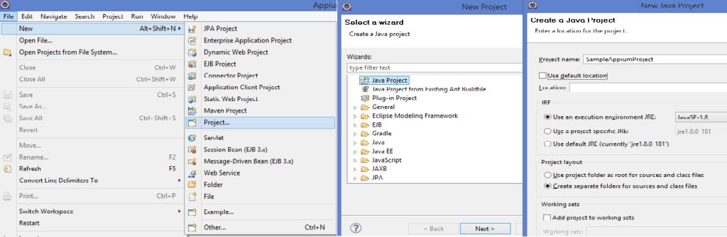 Appium_JavaProjectSetUp