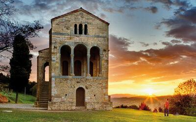 Un palacio de los reyes asturianos, en asturiano