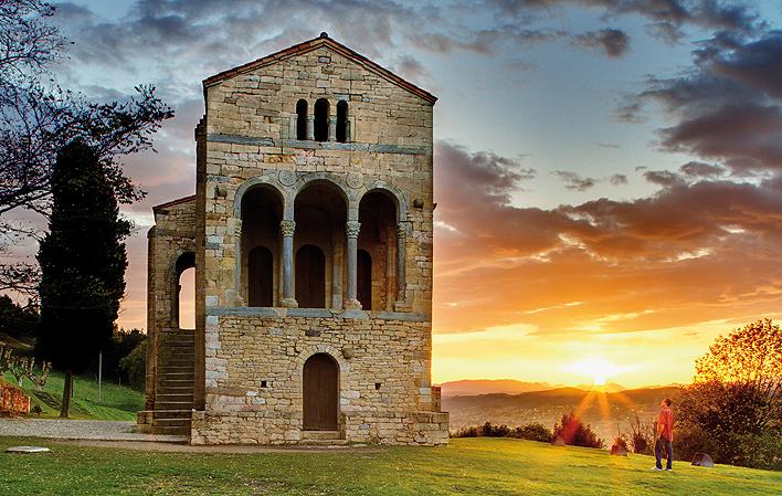 Un palaciu de los reis asturianos, n'asturianu