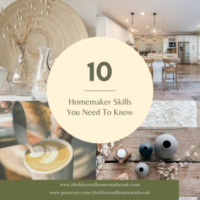 Blogtober Day 3 – 10 Homemaker Skills You Need To Know