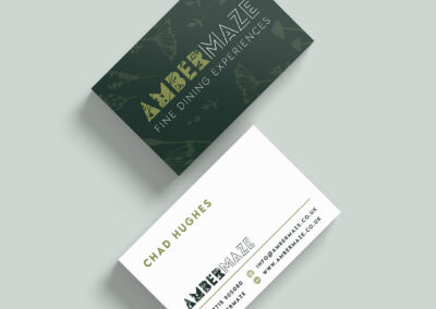 Ambermaze business card mock