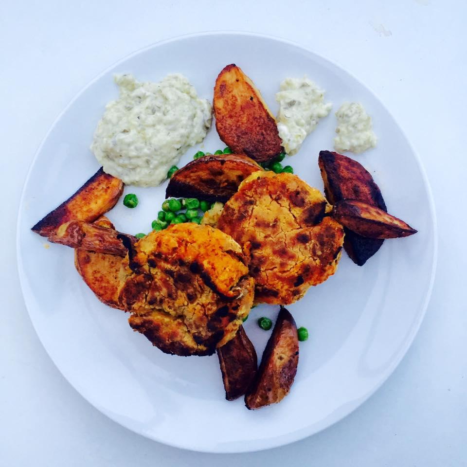 Homemade fish cakes sweet potato chips | Recipe and gluten free dining | Food blog | Elle Blonde Luxury Lifestyle Destination Blog