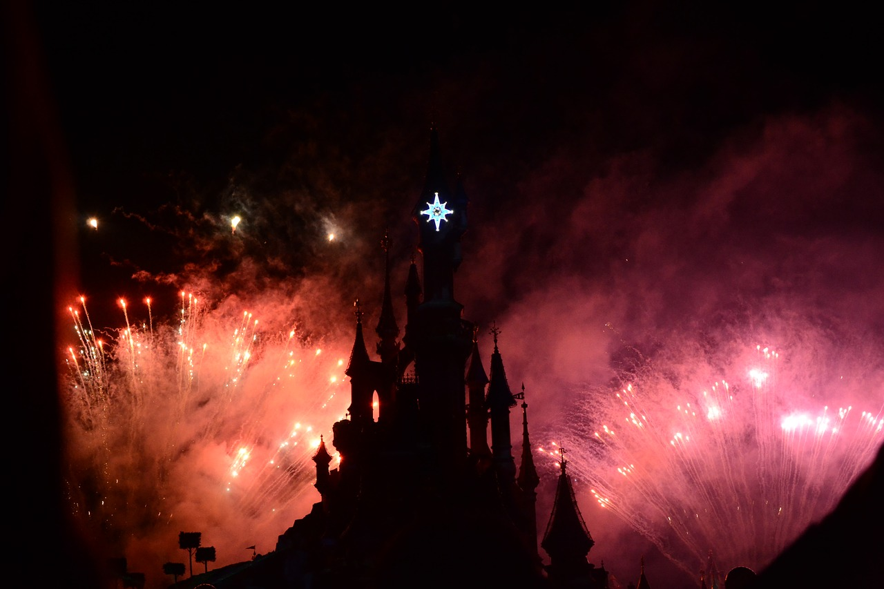 Castle Fireworks at Disneyland Paris | Why Paris is ALWAYS a good idea - Guest Post from The Sparkle Spy - a female solo traveller experience of visiting the most romantic city in the world | Travel Tips | Elle Blonde Luxury Lifestyle Destination Blog