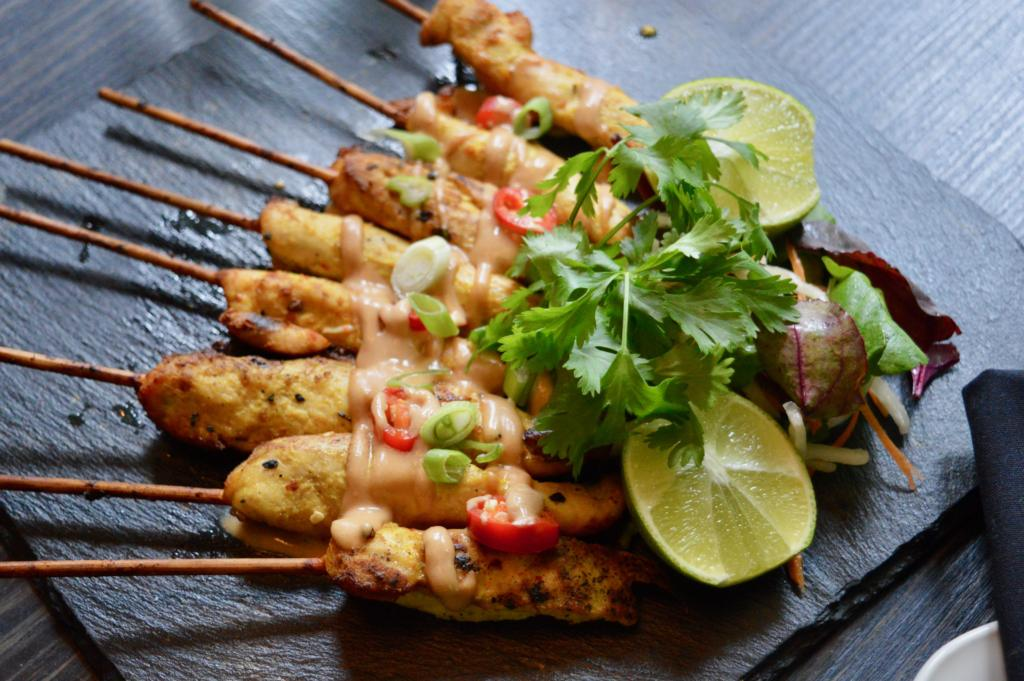 Chicken-Satay-Skewers-Food-Selection-SoHe-Cocktail-Bar-Asian-Restaurant-Jesmond-Newcastle-Elle-Blonde-Luxury-Lifestyle-Blog