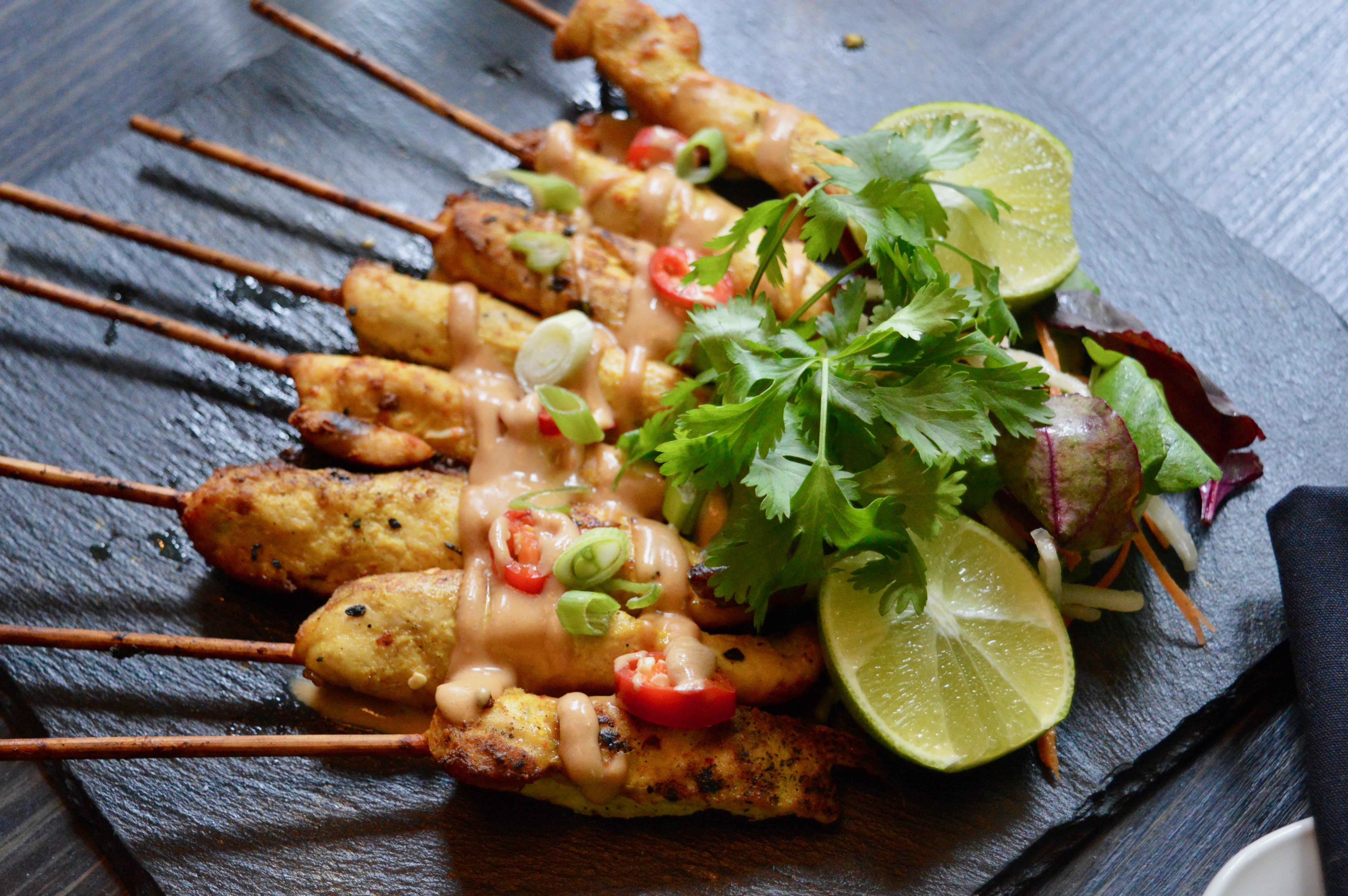 Chicken-Satay-Skewers-Food-Selection-SoHe-Cocktail-Bar-Asian-Restaurant-Jesmond-Newcastle-Elle-Blonde-Luxury-Lifestyle-Blog