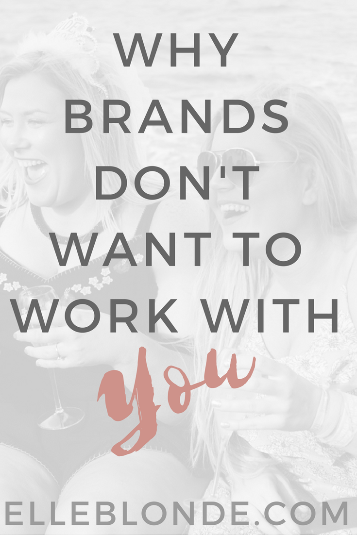 Brands don't want to work with you Pinterest