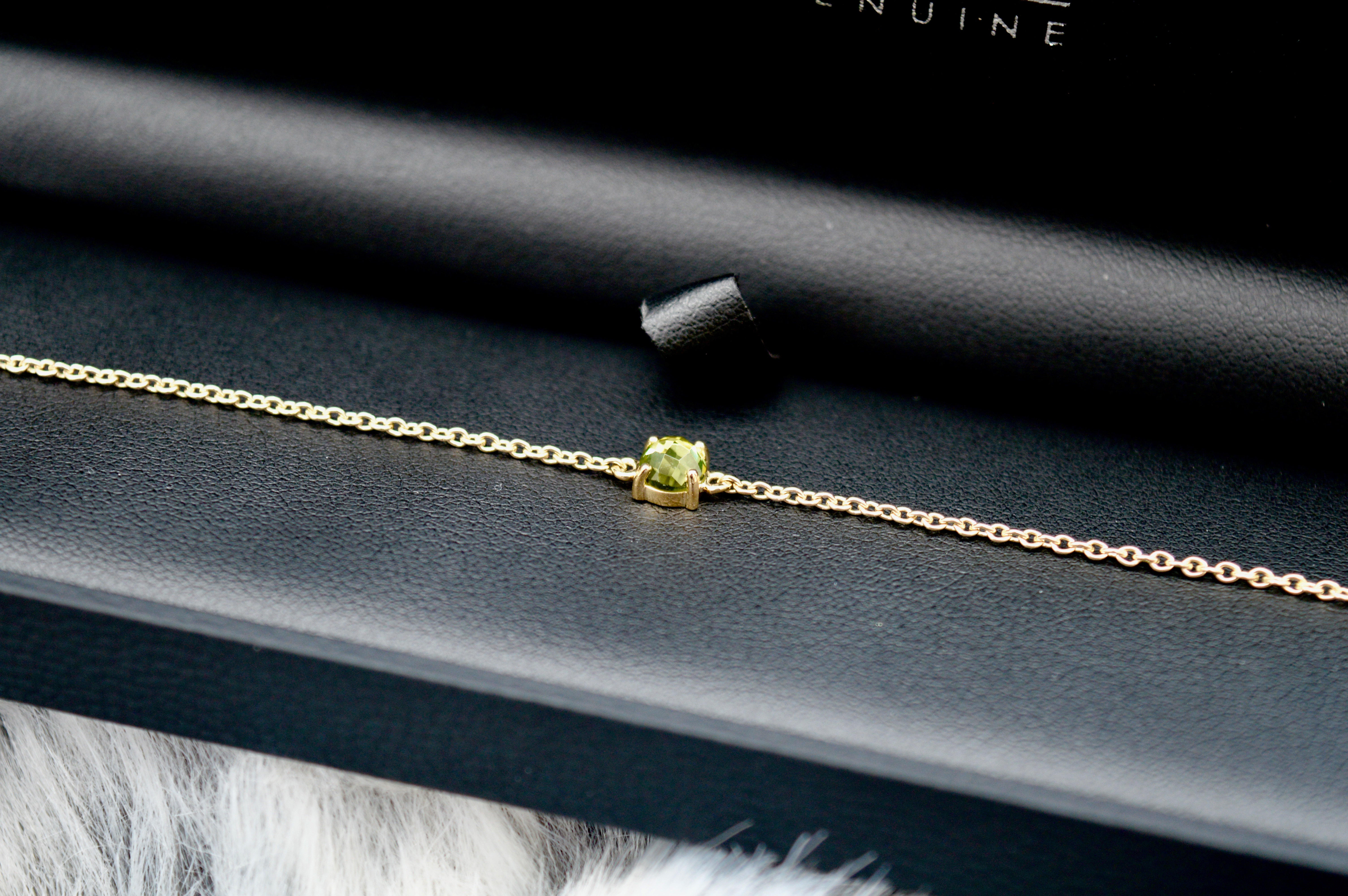 Gemondo Gold and Peridot August Birthstone Bracelet   Memorable Gift   Christmas Gift Guide - What to buy your Grandma   Elle Blonde Luxury Lifestyle Destination Blog