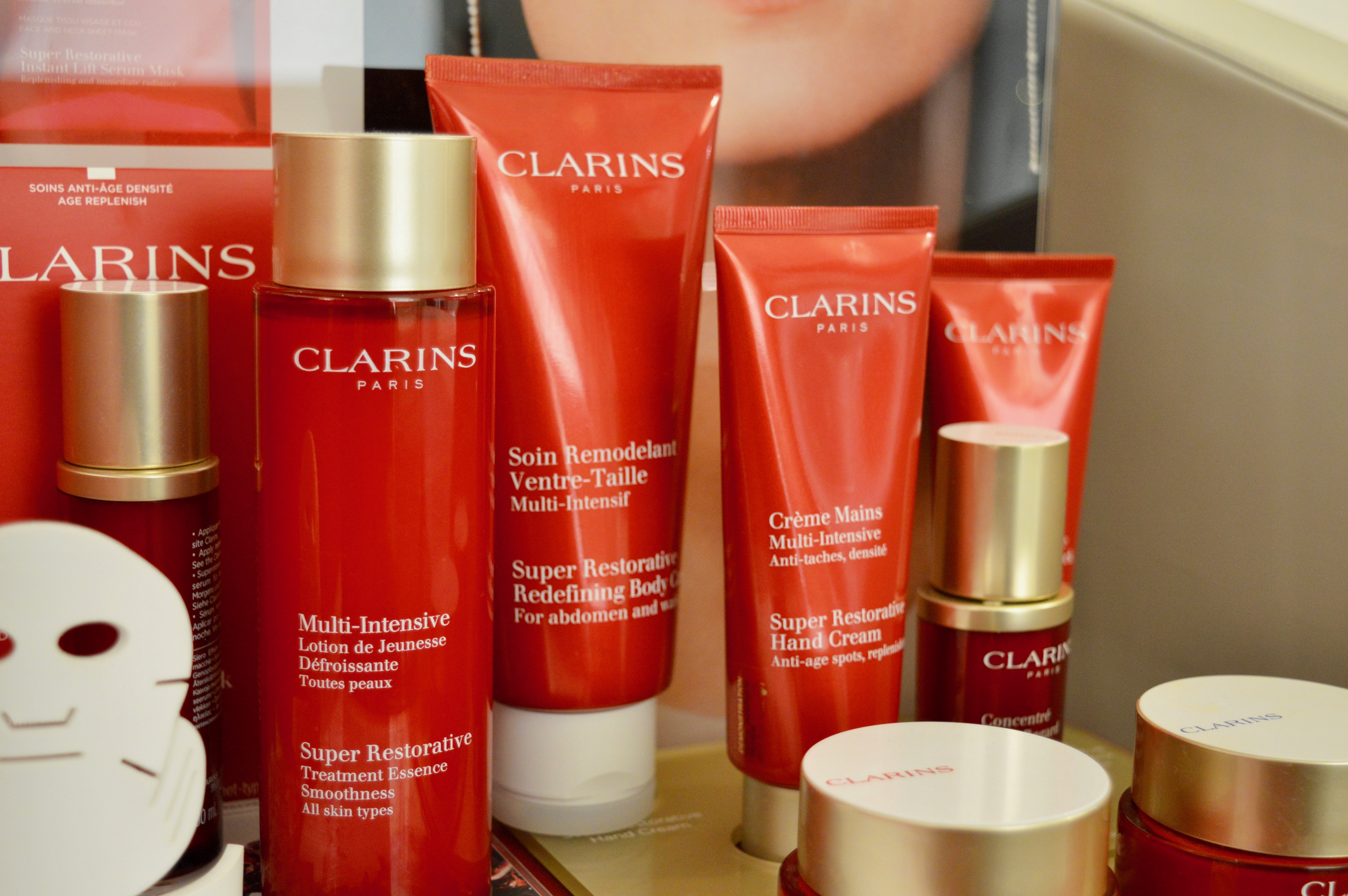 clarins-products-john-lewis-newcastle-beauty-retreat-north-east-blogging-event-elle-blonde-luxury-lifestyle-destination-blog