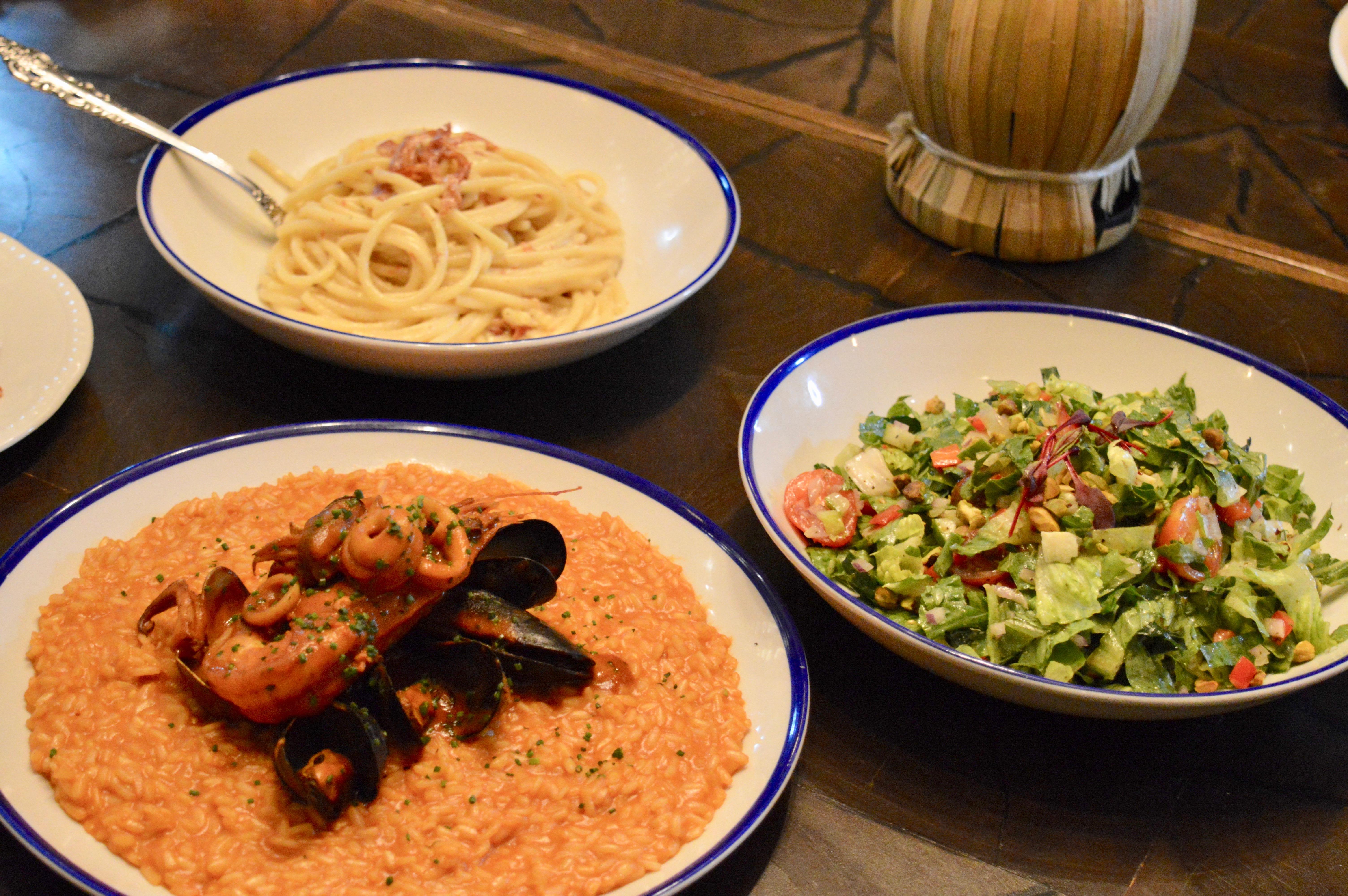 Chopped Salad Mercato Della Pescheria PostTurkey Day Thanksgiving Brunch | Italian dining served family style with the Las Vegas Influencers | The Venetian Las Vegas | Elle Blonde Luxury Lifestyle Destination Blog