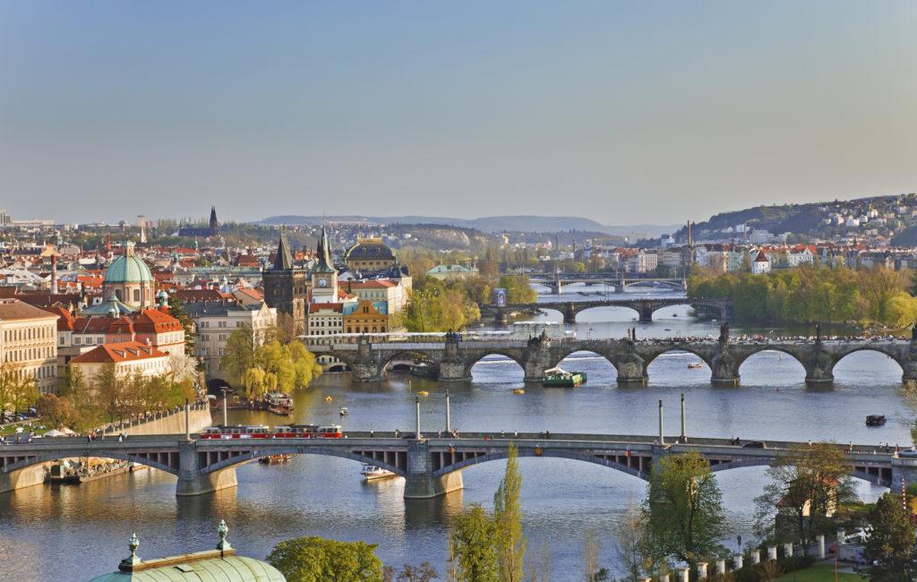 Prague Bridges at Sunset   Prague's Hidden Secrets   The best places to visit in Prague  Travel Guide & Tips    Elle Blonde Luxury Lifestyle Destination Blog
