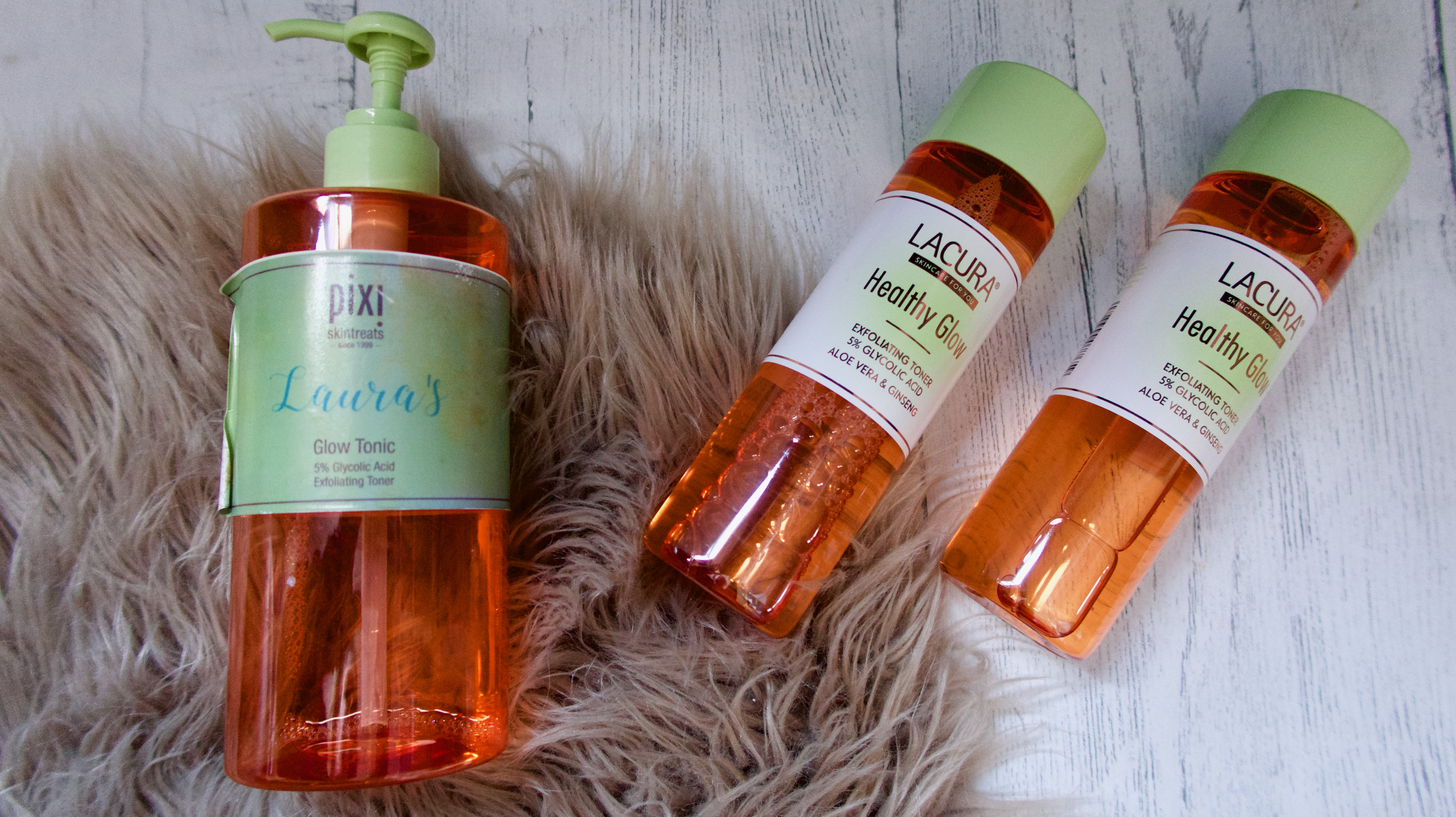 Aldi Healthy Glow vs Pixi Glow Tonic Review 3