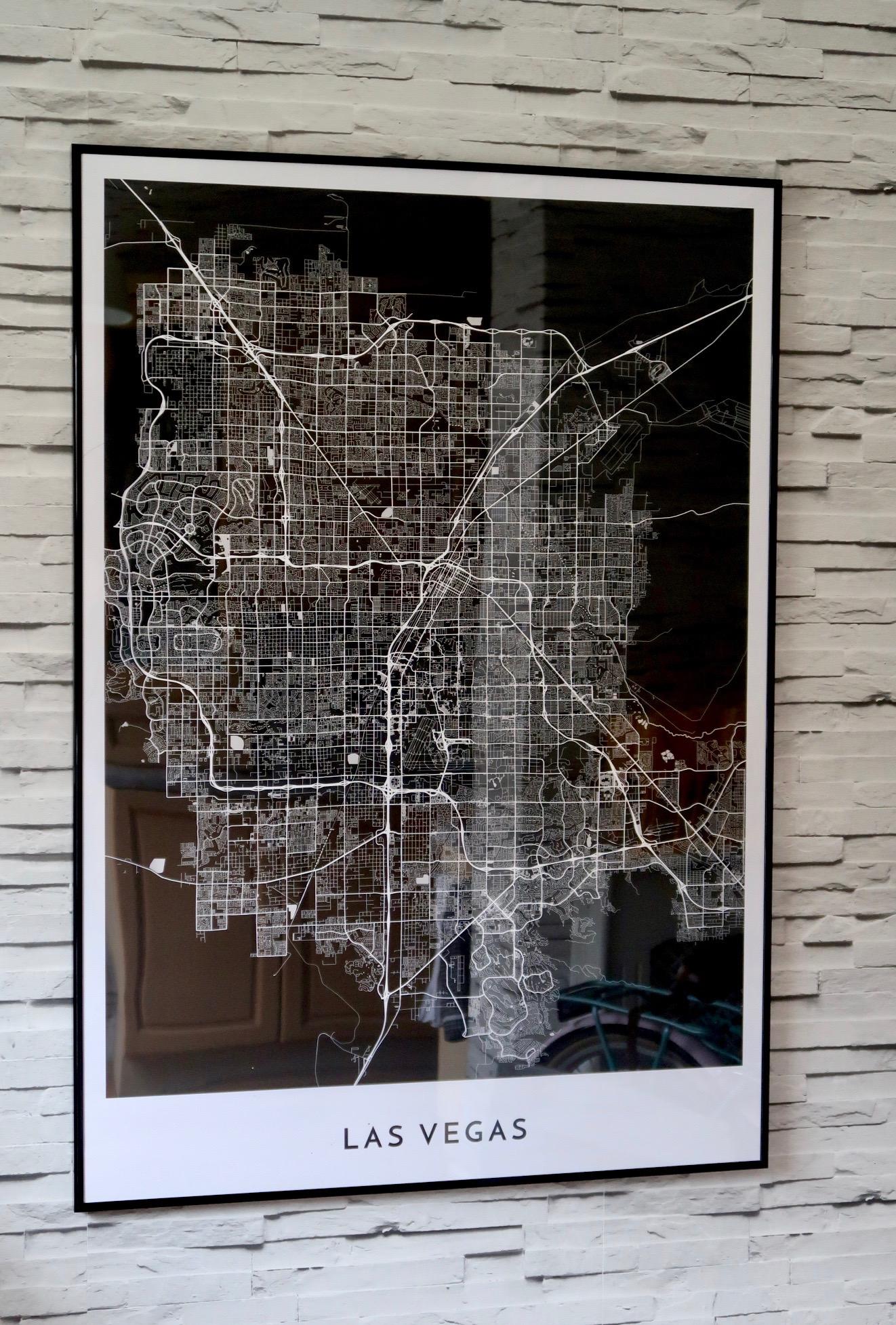 Las Vegas | Alvar Carto | Cartography Prints of Global Destinations | Home Interiors & Decor | Elle Blonde Luxury Lifestyle Destination Blog