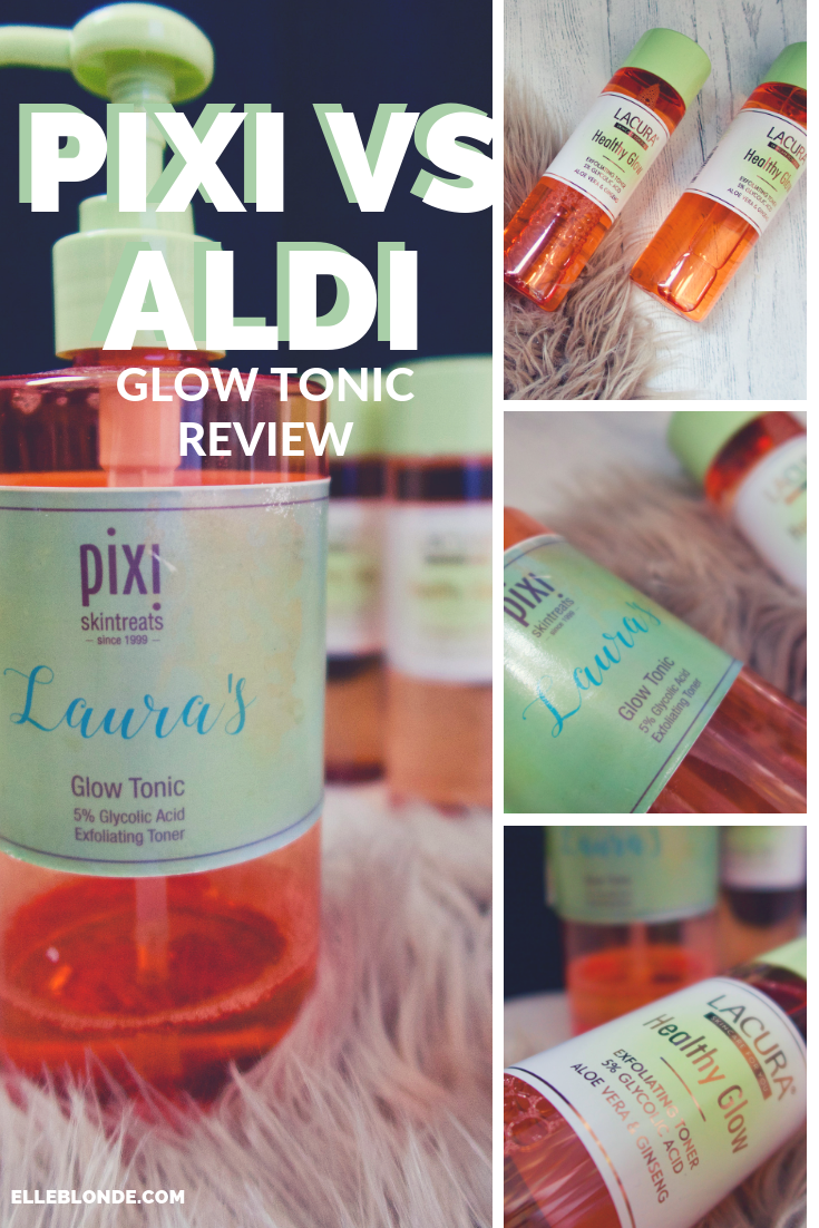 Pixi Beauty Glow Tonic vs Aldi Lacura Healthy Tonic Beauty Insider Review | Glycolic Acid, Exfoliator and Toner | Elle Blonde Luxury Lifestyle Destination Blog