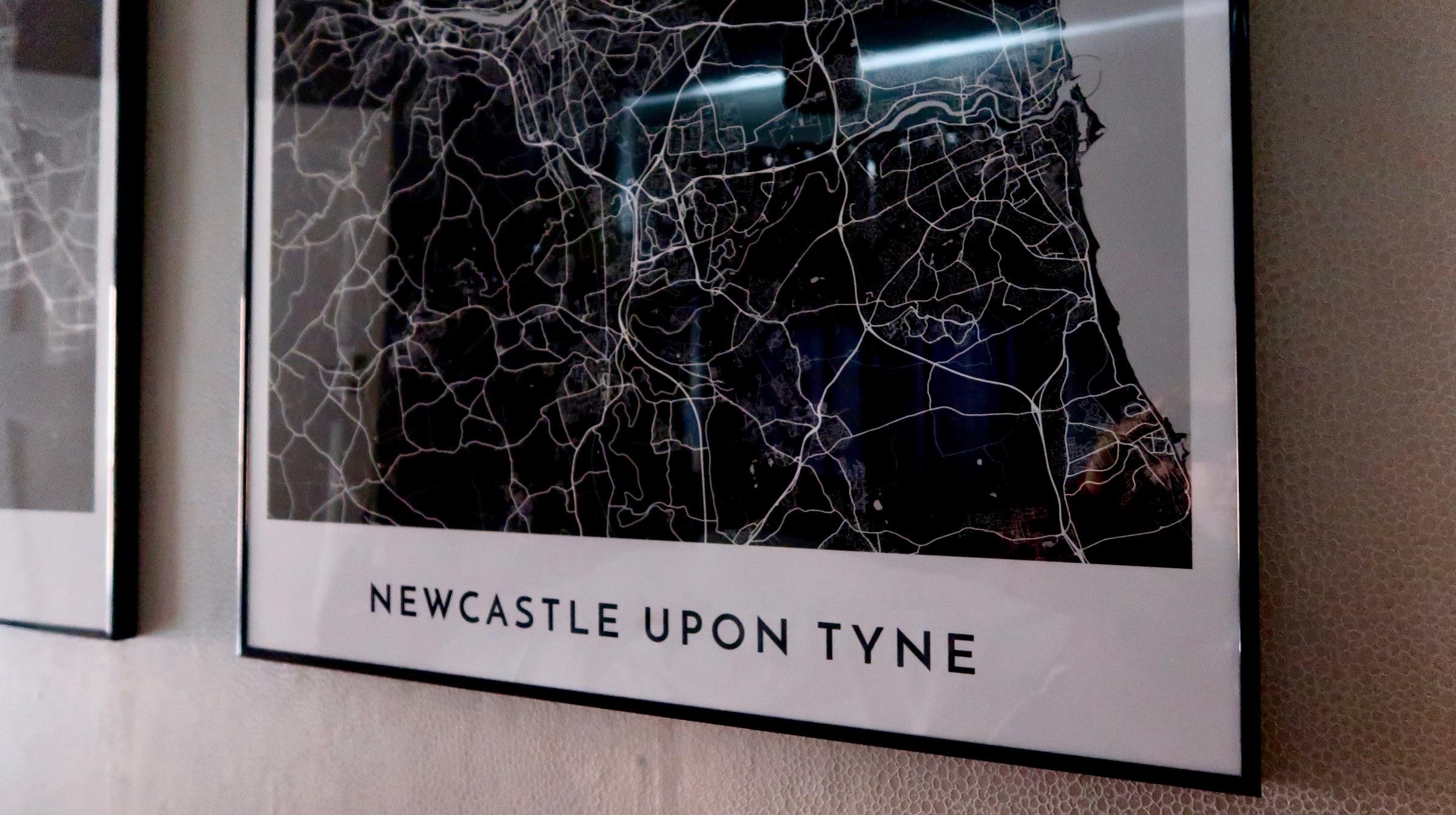 Newcastle upon Tyne | Alvar Carto | Cartography Prints of Global Destinations | Home Interiors & Decor | Elle Blonde Luxury Lifestyle Destination Blog