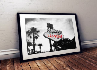Viva Forever Black White Las Vegas Sign Red Writing Travel Prints | Elle Blonde Luxury Lifestyle Destination Blog