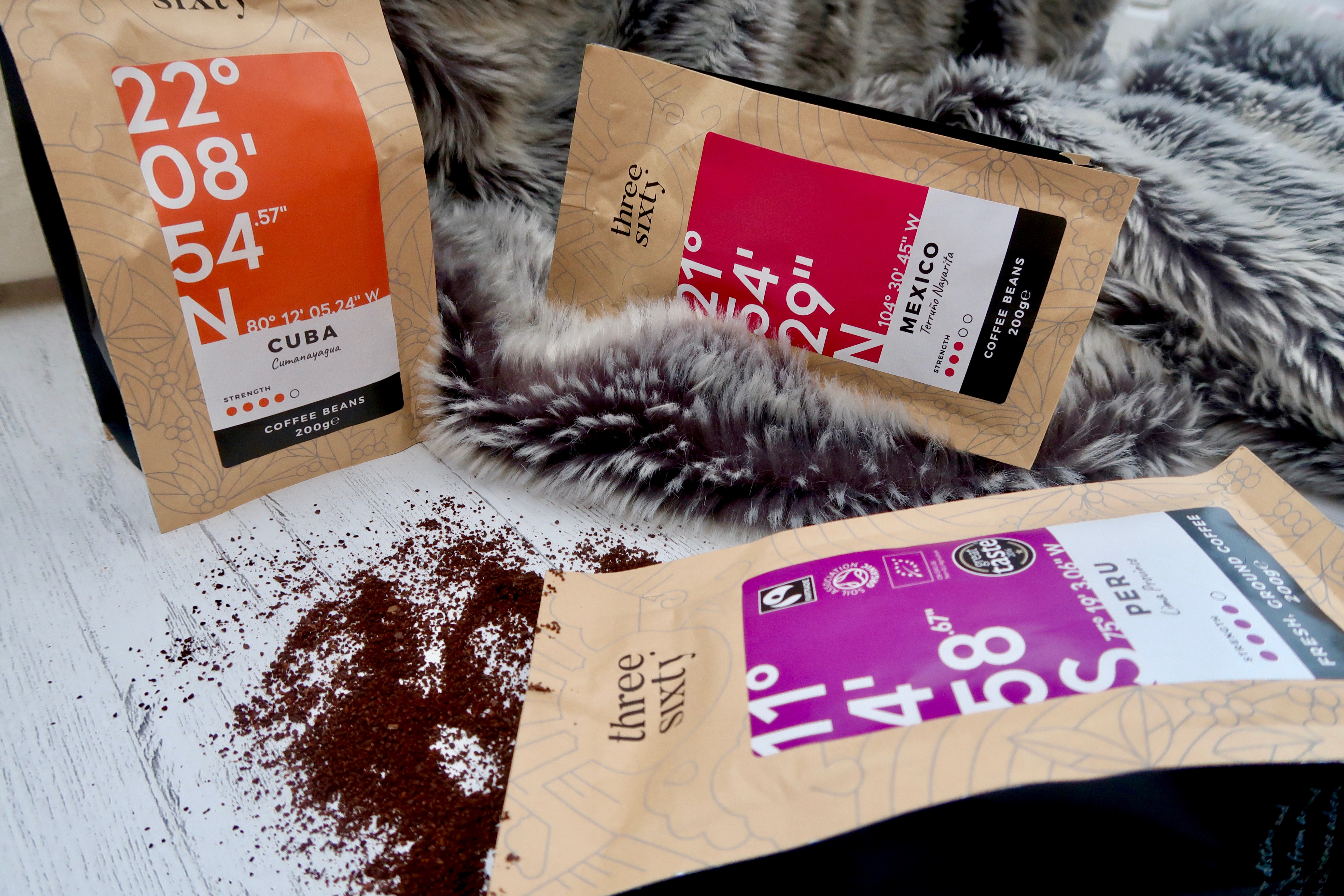 ThreeSixty° Coffee - Fair Trade and Organic Coffee from Peru, Cuba and Mexico | Ground coffee barista style review | Elle Blonde Luxury Lifestyle Destination Blog