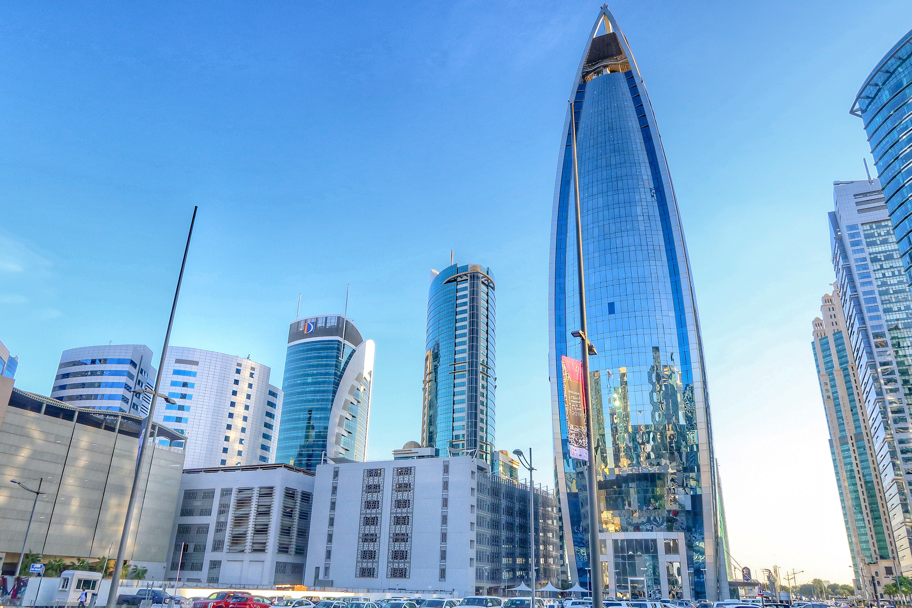 Design District Skyline | Visit Qatar | Doha, the capital of Qatar is located in the Middle East and the World Cup 2022 location. Find out how I spent 4 days on my visit to Qatar | Travel Guide & Tips | Elle Blonde Luxury Lifestyle Destination Blog