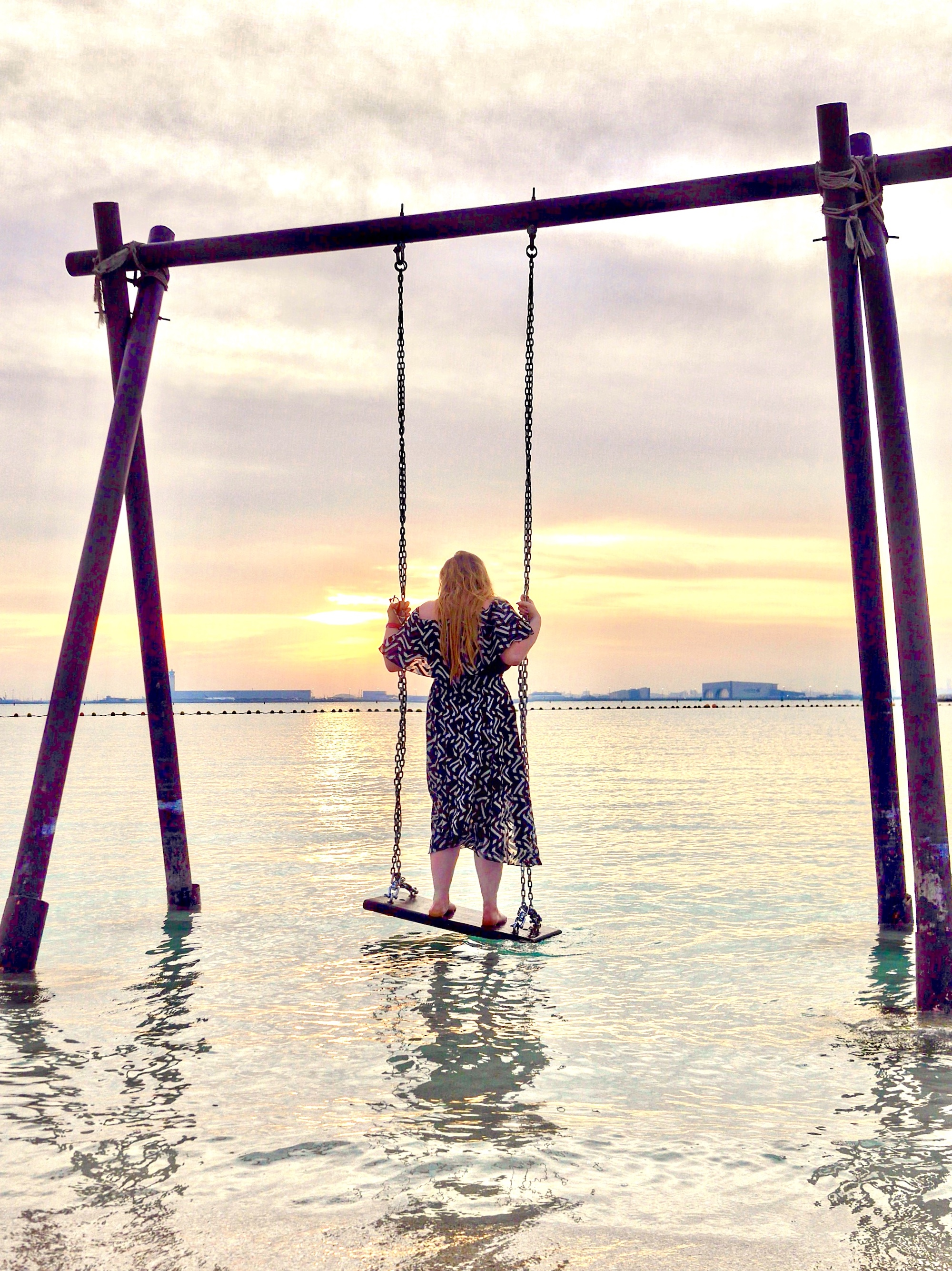 Maldives of Qatar, Banana Island Sea Swing | Visit Qatar | Doha, the capital of Qatar is located in the Middle East and the World Cup 2022 location. Find out how I spent 4 days on my visit to Qatar | Travel Guide & Tips | Elle Blonde Luxury Lifestyle Destination Blog