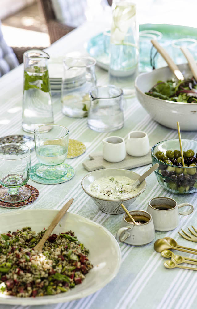 Outdoor dining plates |  Garden Trading SS19 Mezze | Home Interiors | Elle Blonde Luxury Lifestyle Destination Blog