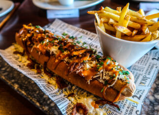 Veggie Hot Dog | Vegan, Vegetarian and Gluten Free Diets and dining at The Engine Room, The Fire Station in Sunderland | National Vegetarian Week | Elle Blonde Luxury Lifestyle Destination Blog