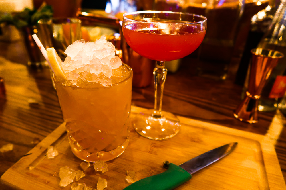 Cocktails Cosmopolitan and Disarrano Sourz | Ice Bath | Banyan Newcastle Cocktail Masterclass | Things to do in Newcastle | Elle Blonde Luxury Lifestyle Destination