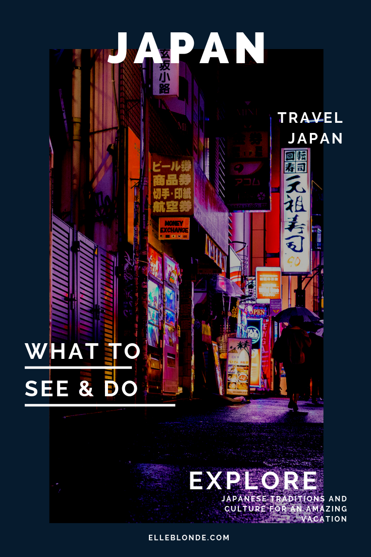 Planning a trip to Japan? Before you head on your Japanese Vacation you might want to discover some of the different experiences the country has to offer. | Elle Blonde Luxury Lifestyle Destination Blog