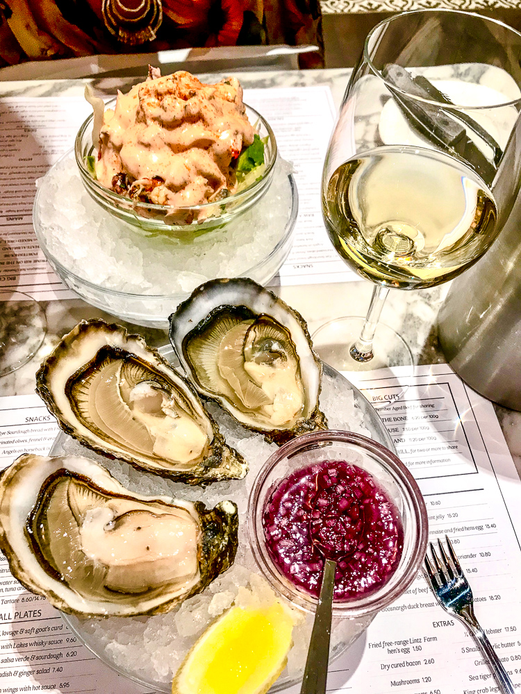Oysters | Saltwater Fish Company located in Fenwick Food Hall is a 21 Group restaurant from head chef Terry Laybourne | Eating in Newcastle | Food Review | Elle Blonde Luxury Lifestyle Destination Blog