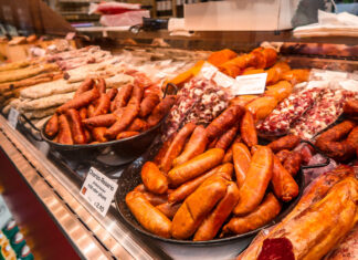 German Chorizo | Covered Market | What to do when visiting Stuttgart for the first time | Germany travel guide | Elle Blonde Luxury Lifestyle Destination Blog