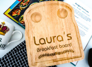 How to serve breakfast with a personalised breakfast board from Urban Fox Gifts   Elle Blonde Luxury Lifestyle Destination Blog