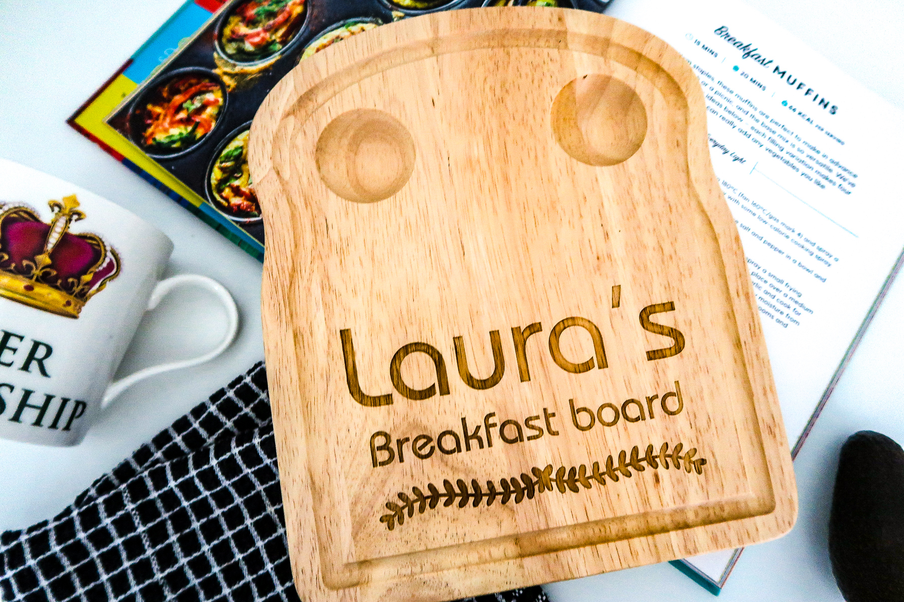 How to serve breakfast with a personalised breakfast board from Urban Fox Gifts | Elle Blonde Luxury Lifestyle Destination Blog