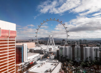 High Roller Linq   7 Night Itinerary for Las Vegas   If you're looking to plan things to do in Vegas here's what we got up to on our 6th visit   Travel Tips   Elle Blonde Luxury Lifestyle Destination Blog