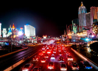 Traffic NYNY Excalibur   7 Night Itinerary for Las Vegas   If you're looking to plan things to do in Vegas here's what we got up to on our 6th visit   Travel Tips   Elle Blonde Luxury Lifestyle Destination Blog