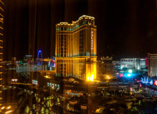View of Palazzo from Wynn bedroom Wynn Slots   7 Night Itinerary for Las Vegas   If you're looking to plan things to do in Vegas here's what we got up to on our 6th visit   Travel Tips   Elle Blonde Luxury Lifestyle Destination Blog