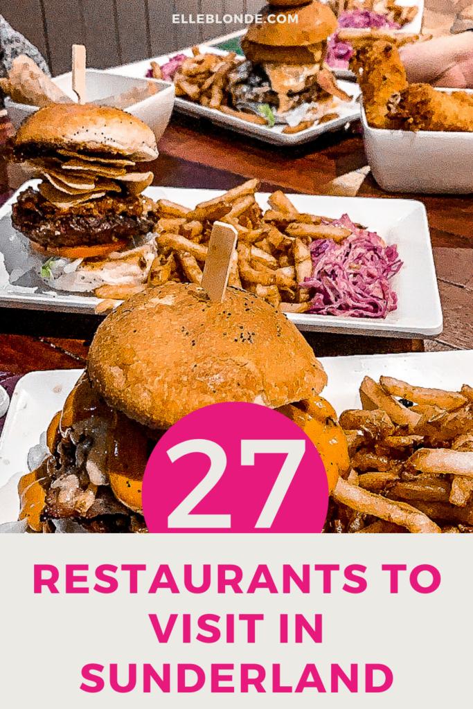 Pinterest Graphic   Sunderland Restaurant Week   Where to eat in Sunderland   Elle Blonde Luxury Lifestyle Destination Blog