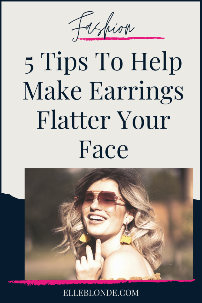 Girl with sunglasses and large gold abstract earrings | 5 Ways To Wear Earrings To Help Them Be More Flattering | Fashion & Style | Elle Blonde Luxury Lifestyle Destination Blog