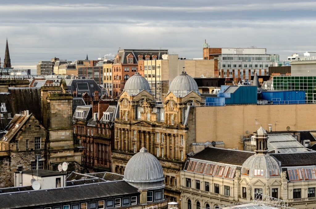 Glasgow Skyline | Visit Glasgow, one of Scotland's most vibrant and exciting cities | 4 Things to see and do on your UK Staycation | Travel Guide & Tips | Elle Blonde Luxury Lifestyle Destination Blog
