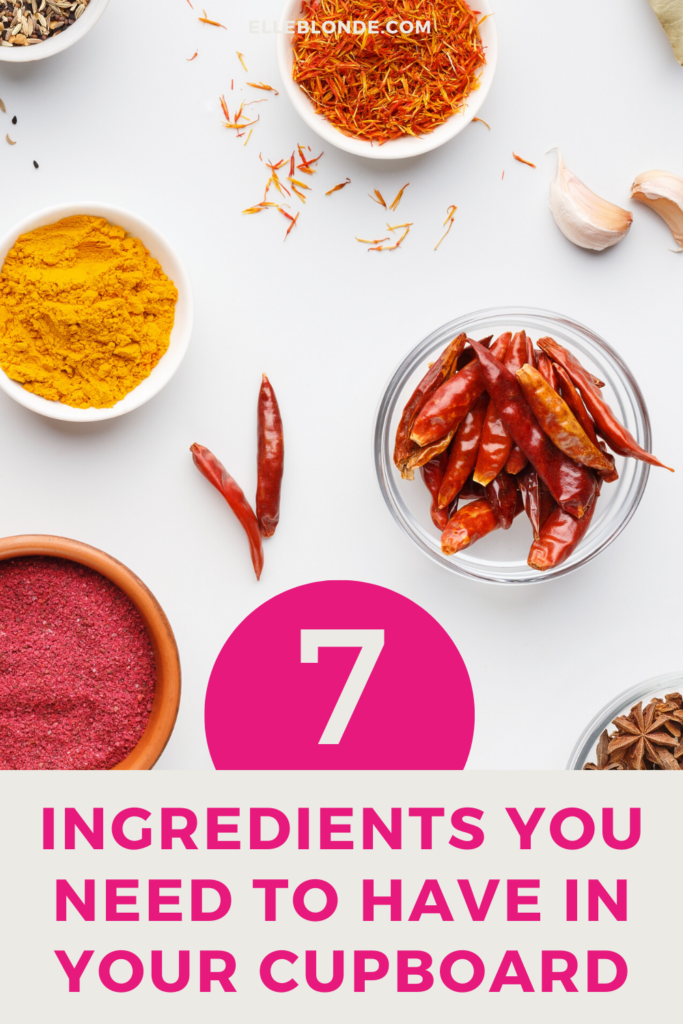 7 Ingredients To Keep In Your Cupboard | Food & Drink | Elle Blonde Luxury Lifestyle Destination Blog