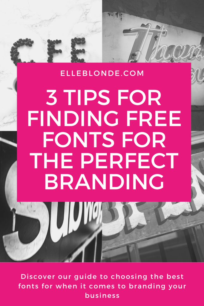 Choosing fonts for your YouTube channel or brand | Elle Blonde Luxury Lifestyle Destination Blog