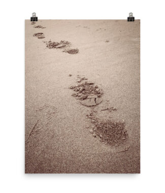 Walkin' Away Beach Footprints in Sand | Posters & Prints Home Decor | Elle Blonde Luxury Lifestyle Destination Blog