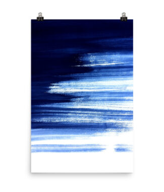 Navy Escapes - Blue Painted Stripes Print | Posters and Prints | Home Interiors | Elle Blonde Luxury Lifestyle Destination Blog