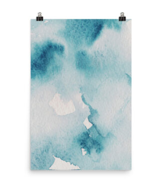 The Teal Kiss - Teal Watercolour Style Print | Prints and Posters | Home Interiors | Elle Blonde Luxury Lifestyle Destination Blog