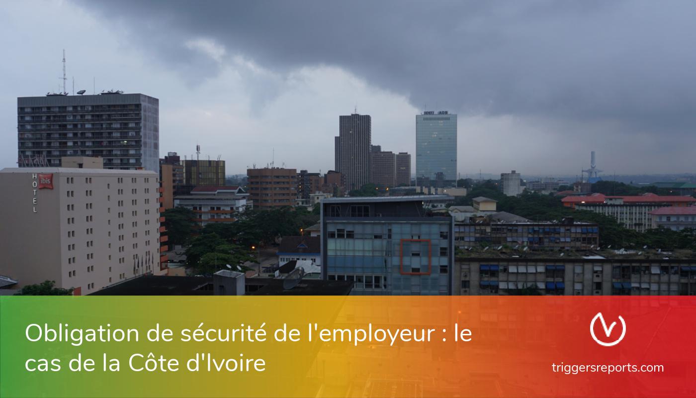 L'obligation de sécurité de l'employeur : le cas de la Côte d'Ivoire