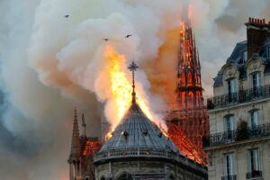 Notre Dame cathedral collapses as fire ravages historic building