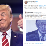 President Trump tells Nigerian boy who drew his portrait to never give up on his dream
