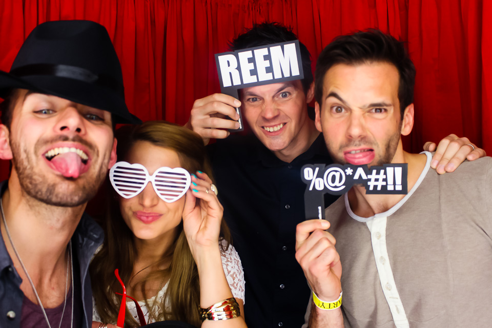 sylvain longchambon and friends in the photo booth