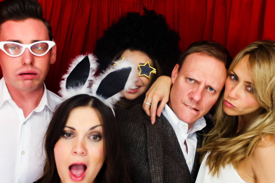 antony cotton and samia ghadie in the photo booth