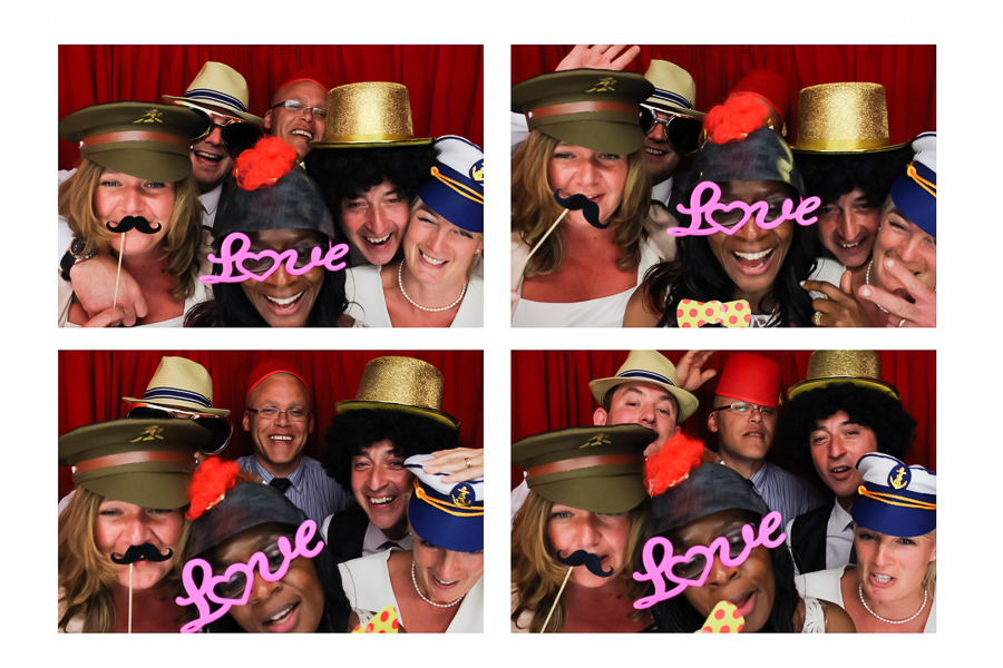 fun wedding photo booth picture