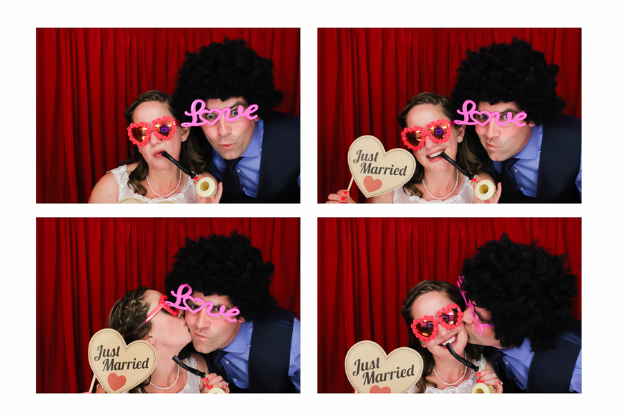 bride and groom wedding photo booth