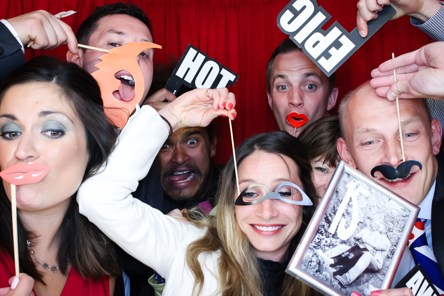 Pete Parkkonen and friends in the photo booth