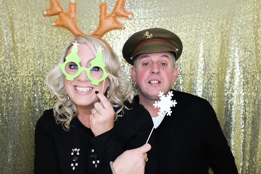 festive photo booth fun